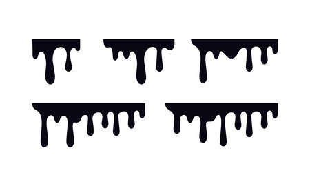 dripping paint vector design