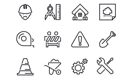 Construction Site icons vector design