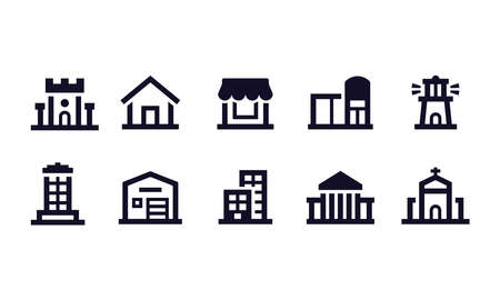 Building Icons vector design