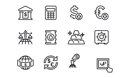 Finance & Investment icons vector design Illustration