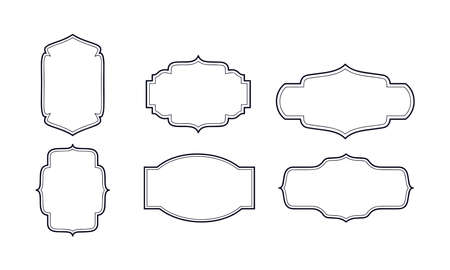 ornate borders icons vector design