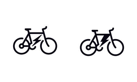 Electric bicycle icon vector design Illustration