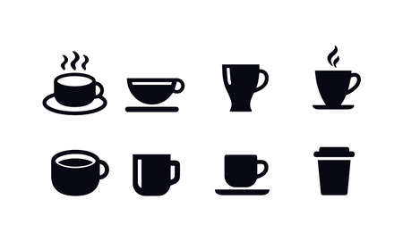 Coffee Cup Icons vector design Illustration