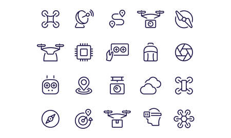 Drone Icons vector design