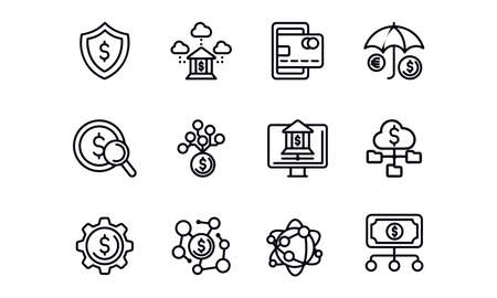 Cloud Financial icons vector design Illustration