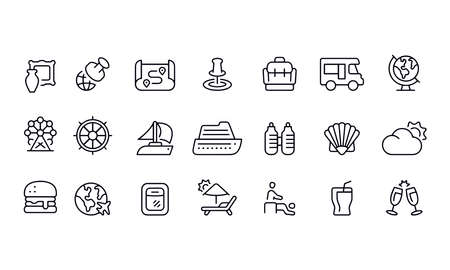 Travel Icons vector design