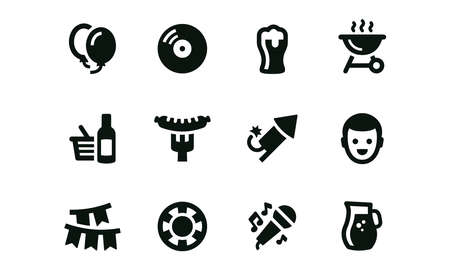 Party Icons vector design