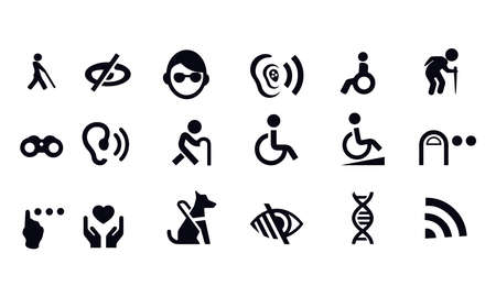 Disability Icons vector design