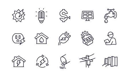 Public Utilities icons vector design Illusztráció