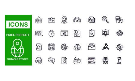 Business Development icons vector design