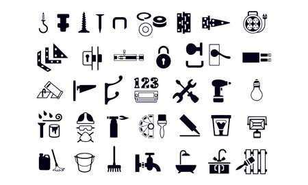 Hardware and Ironmongery Store Icons