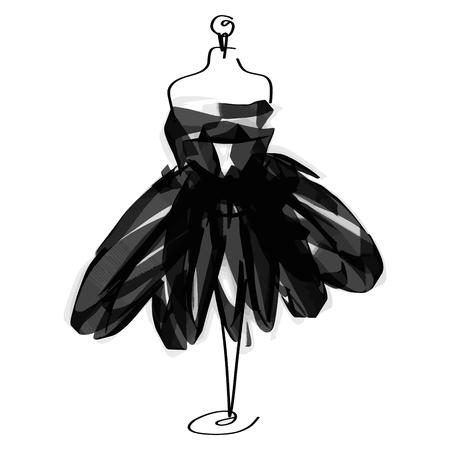 Icône de mode mannequin sur mesure sur fond blanc. Atelier, designer, constructeur, couturière objet. Symbole de la couture noire, silhouette fond blanc. Illustration vectorielle.