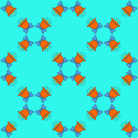 Bright seamless pattern with bells Illustration