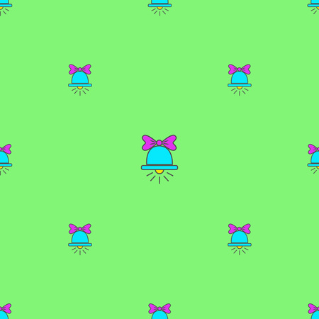 Bright seamless pattern with bells Иллюстрация