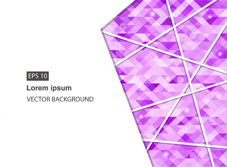 violet abstract geometric business background for presentations, brochure, vector. EPS 10 Vettoriali