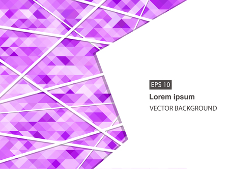 violet abstract geometric business background for presentations, brochure, vector. EPS 10 Archivio Fotografico - 127721111