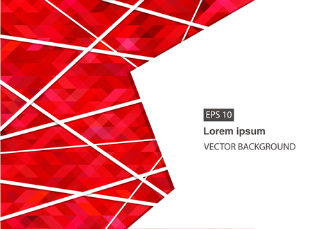 red abstract geometric business background for presentations, brochure, vector. EPS 10