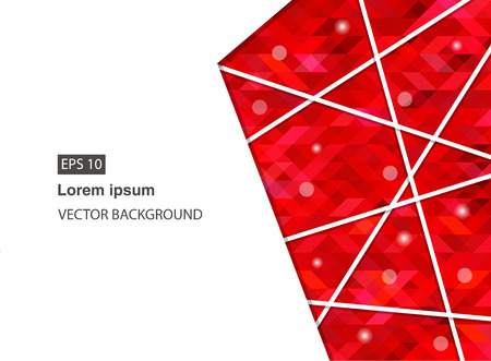 red abstract geometric business background for presentations, brochure, vector. EPS 10 Archivio Fotografico - 127711551