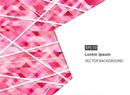 pink abstract geometric business background for presentations, brochure, vector. EPS 10
