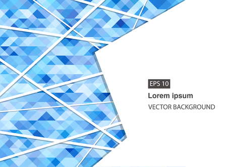 blue abstract geometric business background for presentations, brochure, vector. EPS 10