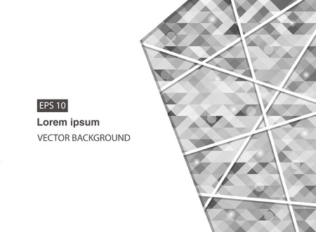 grey abstract geometric business background for presentations, brochure, vector. EPS 10