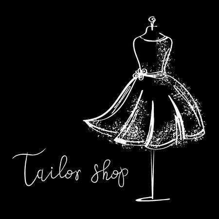 Logo Studio di moda. Calligrafia personalizzata fatta a mano, lettering pennello vettoriale per salone di moda.