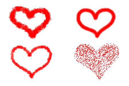 Happy Valentines Day romantic greeting card illustration