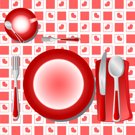gentillesse: Souper Table vecteur