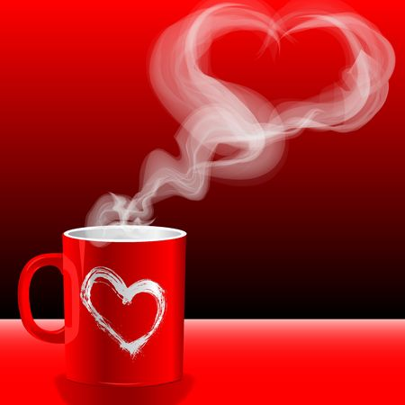 covetous: Illustration Valentines day, loves cups