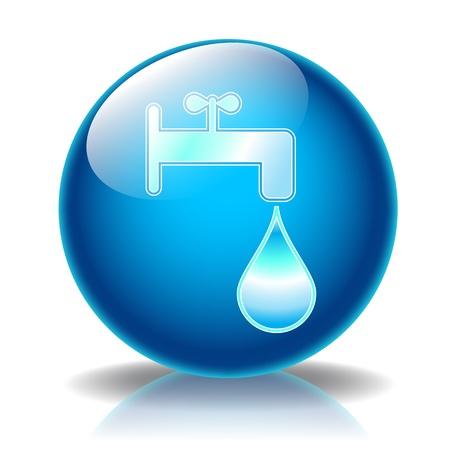 Fountain glossy icon photo