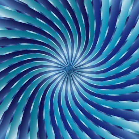 hypnose: Illustration vector blue spiral vortex Illustration