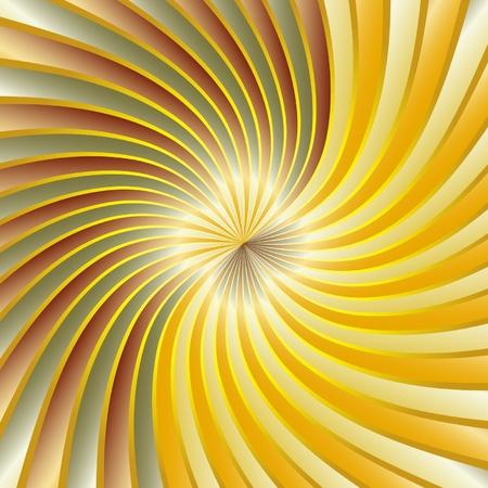 Gold spiral vortex