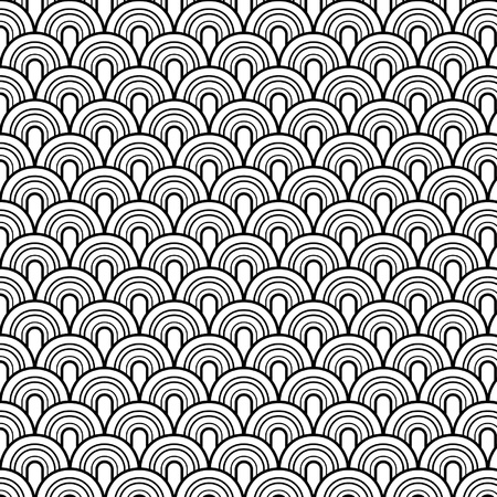 psychedelic background: Seamless retrò vector pattern Illustration