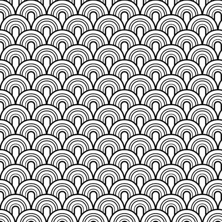 modular: Seamless retrò vector pattern Illustration