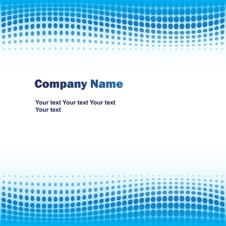 blank brochure: Blue business background Illustration