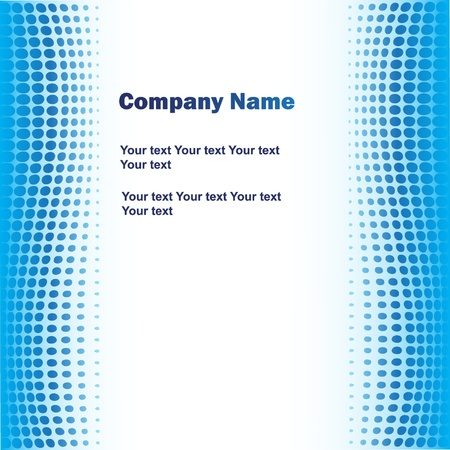 brochure layout: Blue business background Illustration