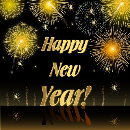 fireside: Happy New Year Illustration