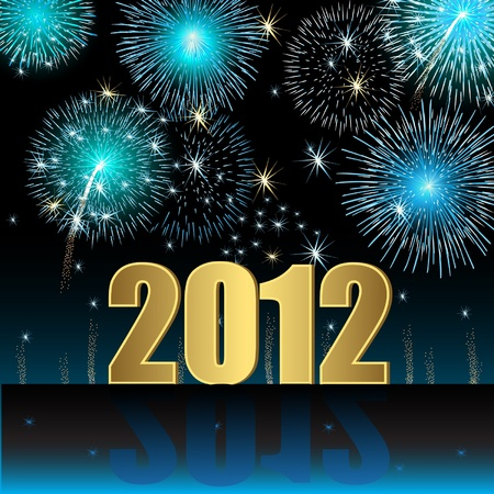 Happy New Year 2012 Vector