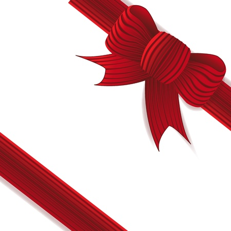 Present with red bow photo