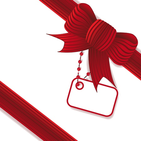 complimentary: Present with red bow Stock Photo