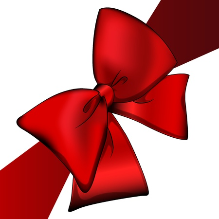 Red bow Stock Photo - 10272981