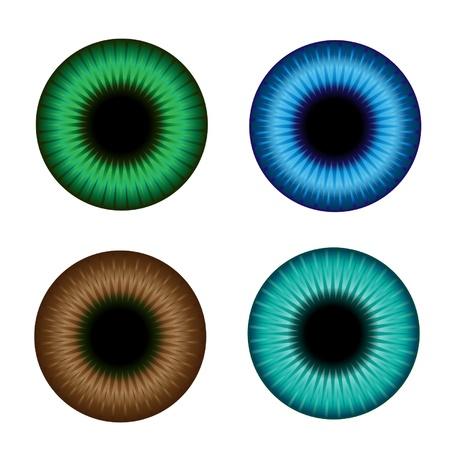 Iris de color de ilustración