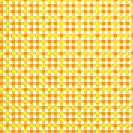 Pattern tablecloth yellow orange Vector