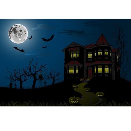 할로윈 유령의 집