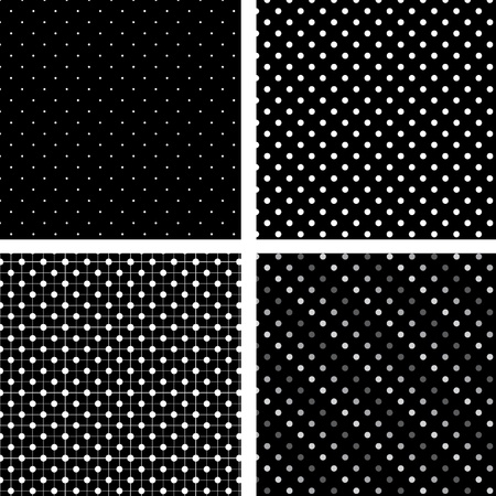 원활한 패턴 검은 색과 흰색 관심 장소