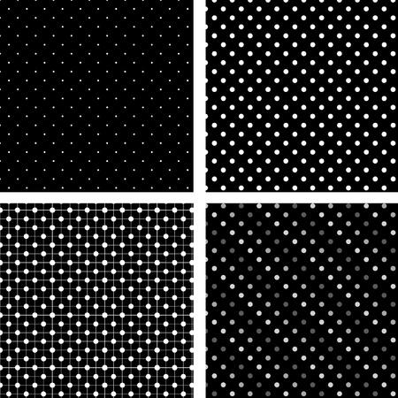 Seamless pattern pois black and white Illustration