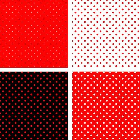 원활한 패턴 빨간색 관심 장소 일러스트