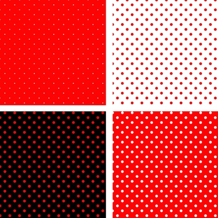Seamless pattern pois red Vector