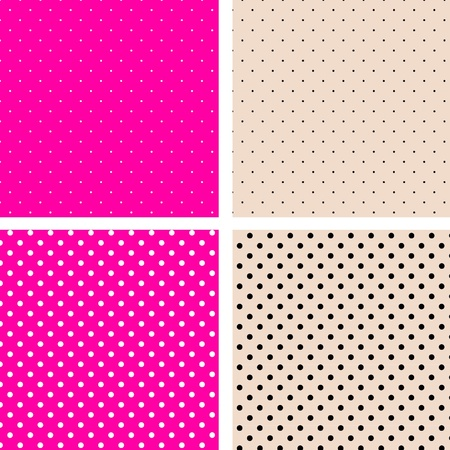 Seamless pattern pois pink