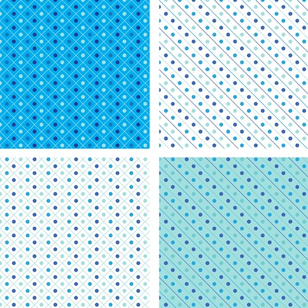 Seamless pattern pois blue Vector